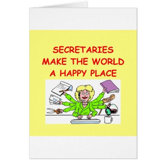 secretaries card