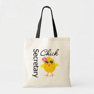 Secretary Chick Budget Tote Bag