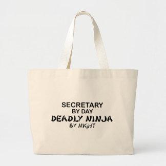 Secretary Deadly Ninja by Night Canvas Bag