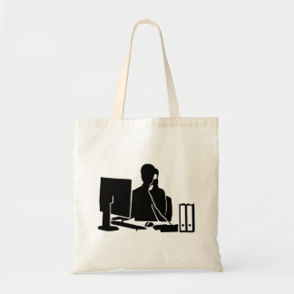 Secretary office woman budget tote bag