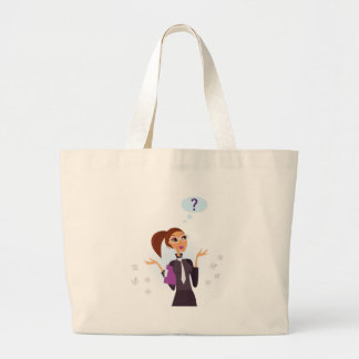 Secretary Original art drawing Large Tote Bag