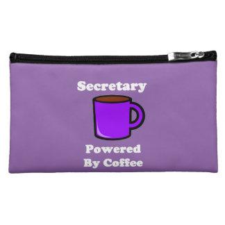 """Secretary""  Powered by Coffee Makeup Bags"