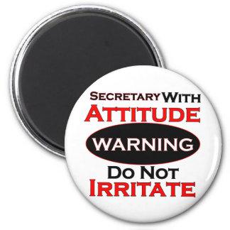 Secretary With Attitude Magnet