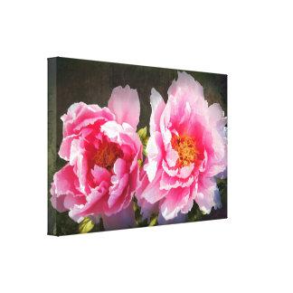 Secreted Away, Pink Peonies Canvas Print