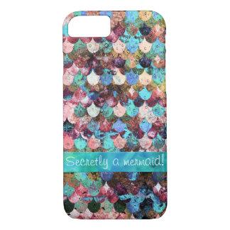 Secretly a Mermaid- Mermaidscale Scale Pattern iPhone 8/7 Case