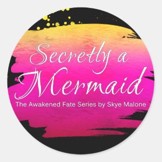 Secretly a Mermaid - Sticker - Black and Pink