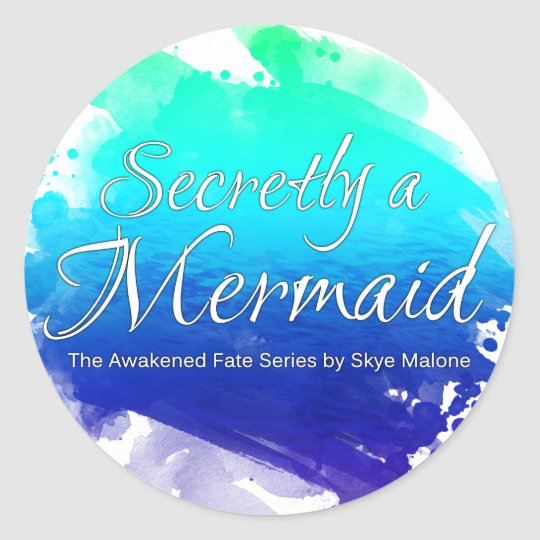 Secretly a Mermaid - Sticker - Blue