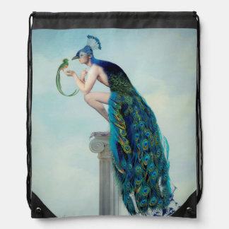 Secrets & Feathers Drawstring Bag