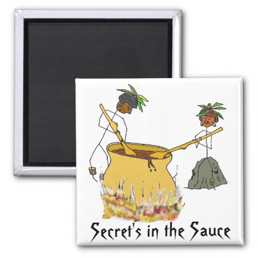 Secret's in the Sauce-Stick Figure Chefs Fridge Magnets
