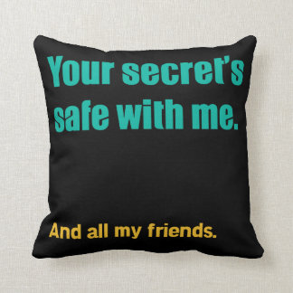 Secret's Safe Throw Pillow