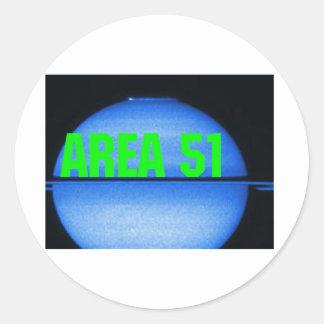 secteur 51 autocollants ronds
