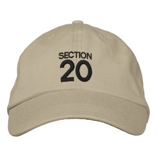 SECTION 20 Strike Back Inspired Hat/Cap Embroidered Hat