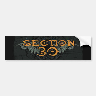 Section 30 Orange Logo Bumper Sticker