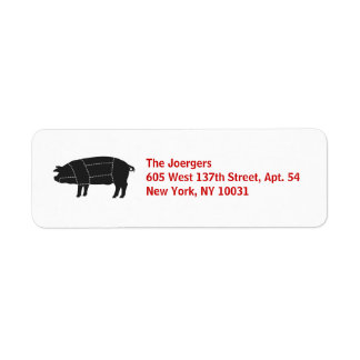 Sectioned BBQ Black Pig Return Address Label