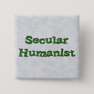 Secular Humanist 2 Inch Square Button