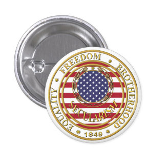 secularism flag the USA 1 Inch Round Button