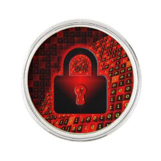 Secure data lapel pin