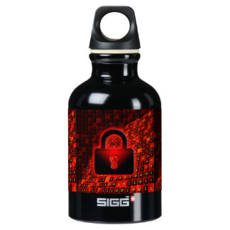 Secure data water bottle
