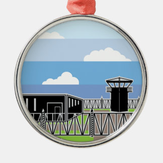 Secure Facility Prison Camp Metal Ornament
