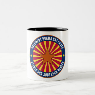 Secure Our Southern Border Two-Tone Coffee Mug