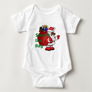 secure the bag black santa baby bodysuit