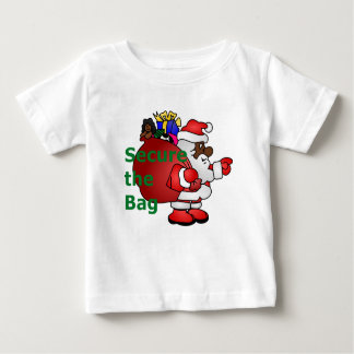secure the bag black santa baby T-Shirt