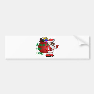 secure the bag black santa bumper sticker