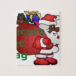 secure the bag black santa jigsaw puzzle
