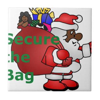 secure the bag black santa tile
