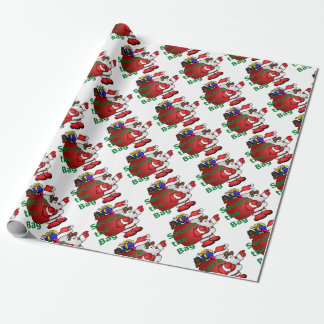 secure the bag black santa wrapping paper