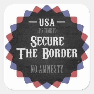 Secure The Border Square Sticker