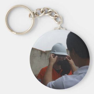 Security all day basic round button keychain