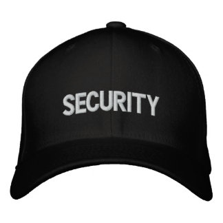 Security Baseball cap with embroidered logo