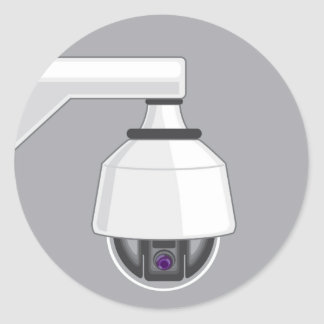 Security Camera Round Sticker