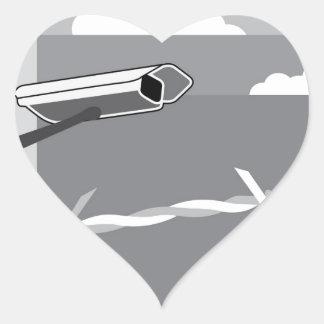 Security Camera. Secure Facility. Heart Sticker