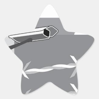 Security Camera. Secure Facility. Star Sticker