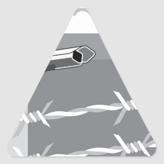 Security Camera. Secure Facility. Triangle Sticker