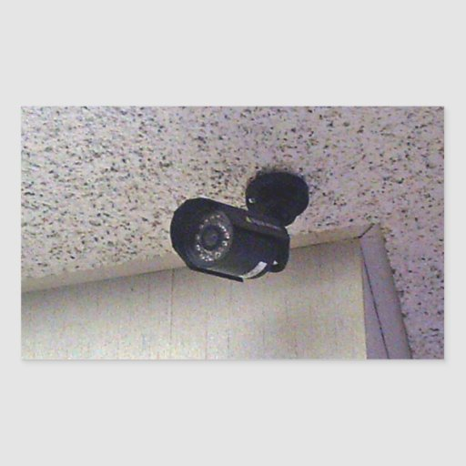 Security camera rectangle stickers