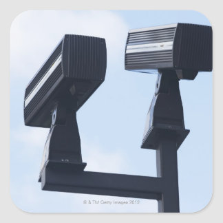 Security cameras square sticker