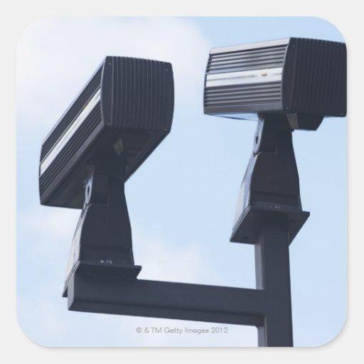 Security cameras square sticker