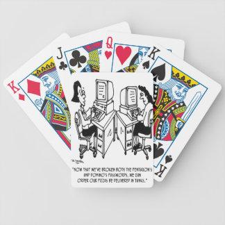 Security Cartoon 4348 Bicycle Playing Cards