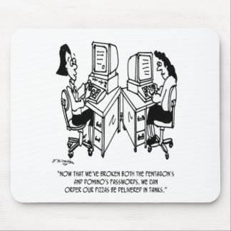 Security Cartoon 4348 Mouse Pad