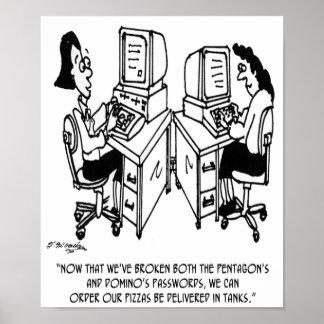 Security Cartoon 4348 Poster