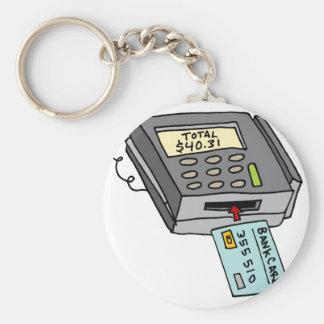 Security Chip Credit Card Machine Basic Round Button Keychain