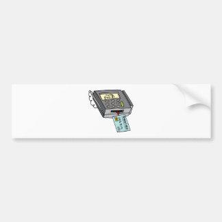 Security Chip Credit Card Machine Bumper Sticker