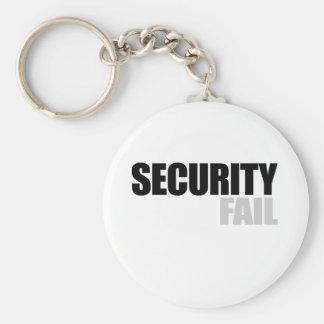Security fail basic round button keychain
