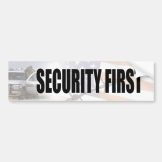 Security First Bumper Sticker