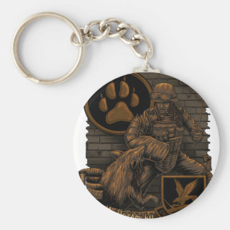 security force K9 Basic Round Button Keychain