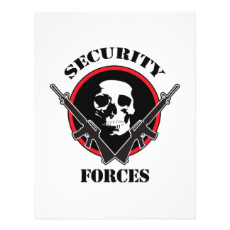 SECURITY FORCES PERSONALIZED LETTERHEAD