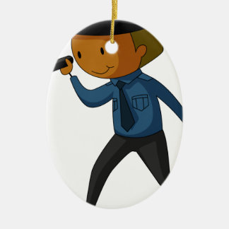 Security guard ceramic ornament